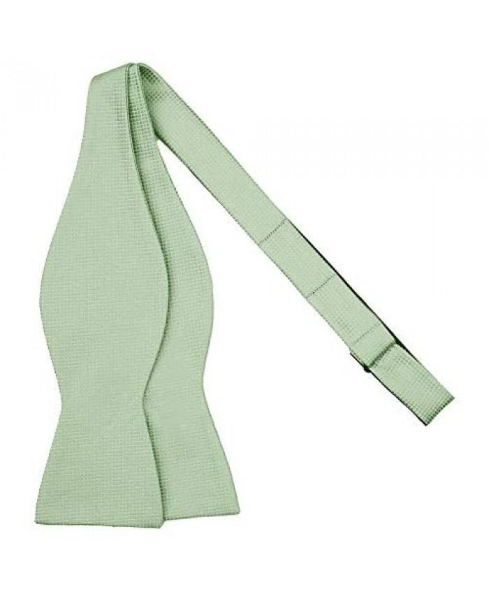 Jacob Alexander Men's Woven Subtle Mini Squares Adjustable Self-Tie Bow Tie