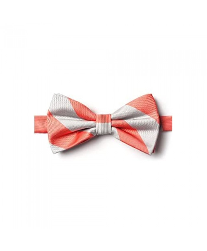 Men's Pre-Tied Bow Tie - 100% Microfiber Handmade Woven Bowtie - 34 Colors Available