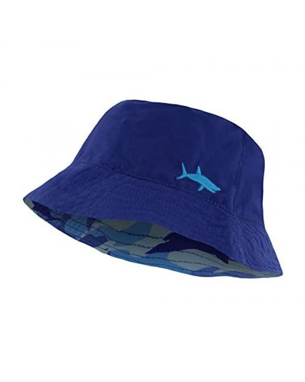 Bucket Hat for Boys and Girls Packable Double Sided Reversible Beach Sun Kids Bucket Hats - Ages 3-10