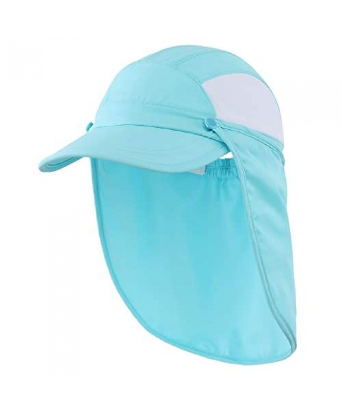 Connectyle Kids UPF 50+ Sun Protection Hat with Neck Flap Mesh Baseball Sun Hat