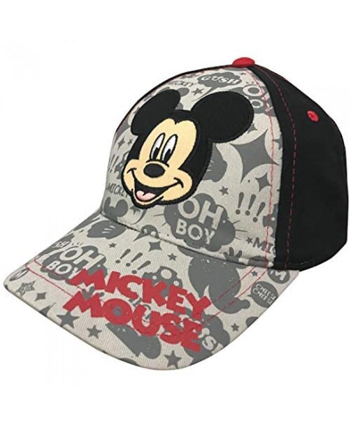 Disney Little Boys Mickey Mouse Baseball Cap - 100% Cotton