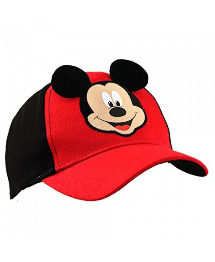 Disney Toddler Hat for Boy's Ages 2-4 Mickey Mouse Kids Baseball Cap 3D Design Ears