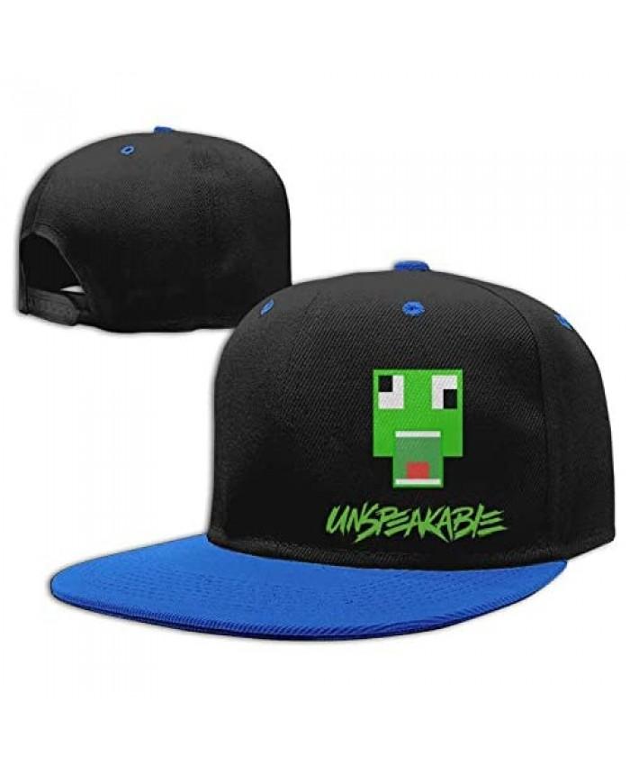 HONG111 Kids Cotton Baseball Cap Un-Speaka-Ble Adjustable Hip-Hop Hat Outdoor Trucker Cap Blue