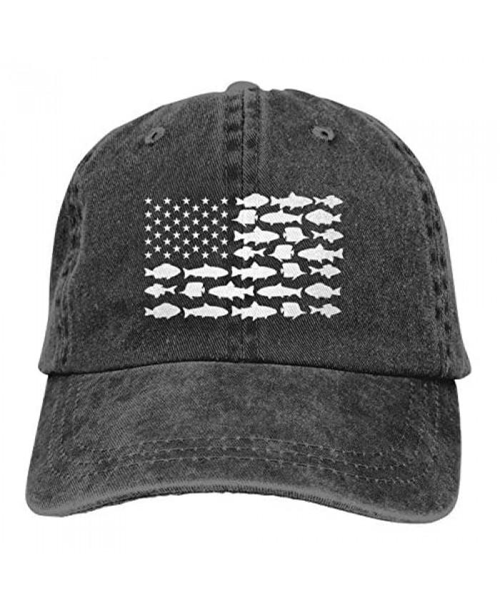 Waldeal Boy Printing Fish Flag Vintage Dad Hats Cute Adjustable Kids Baseball Cap for 3-12 Years