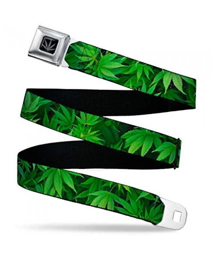 Buckle-Down Men's Seatbelt Belt Weed Regular Multicolor 1.5 Wide-24-38 Inches