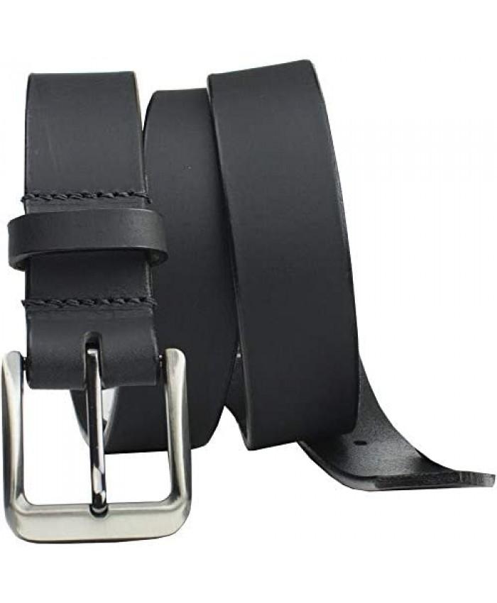 Smoky Mountain Black Belt II - USA Made Genuine Full Grain Leather Belt with Certified Nickel Free Buckle