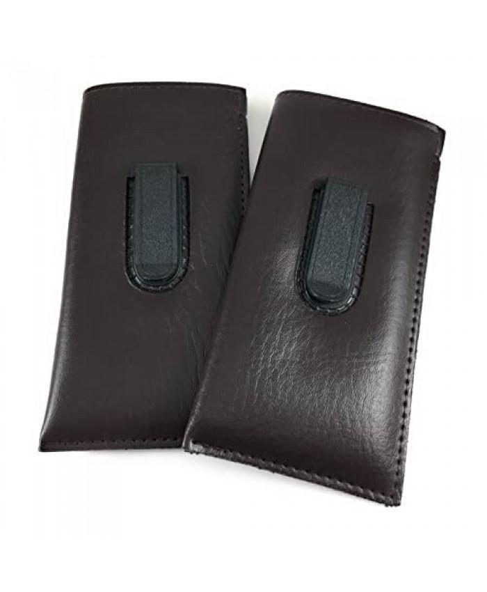 2 PACK Slip in Glasses Case for Eyeglasses Sunglasses & Safety Glasses for Men & Women