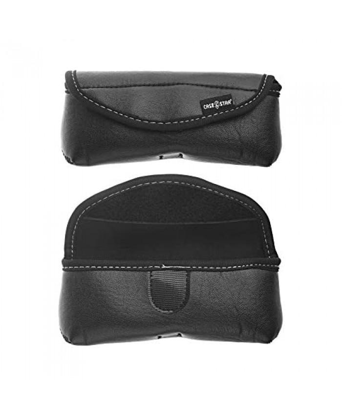 Case Star Black PU Leather Glasses Pouch Case For Sunglasses Reading Eyeglasses Eyewear