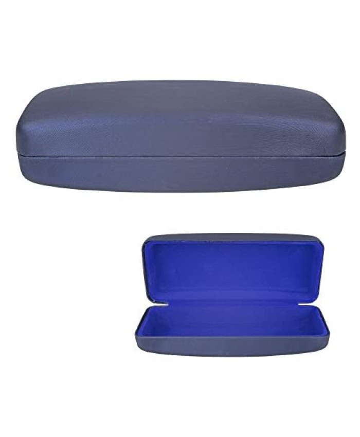 Clamshell Hard Shell Glasses Case - Deluxe Brushed Finish with Soft Interior