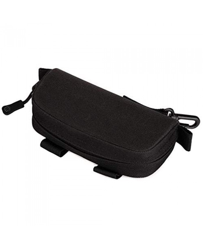Protector Plus Tactical MOLLE Glasses Hard Case Military Sunglasses Protective Box Eyeglasses Carrying Bag Pouch with Clip