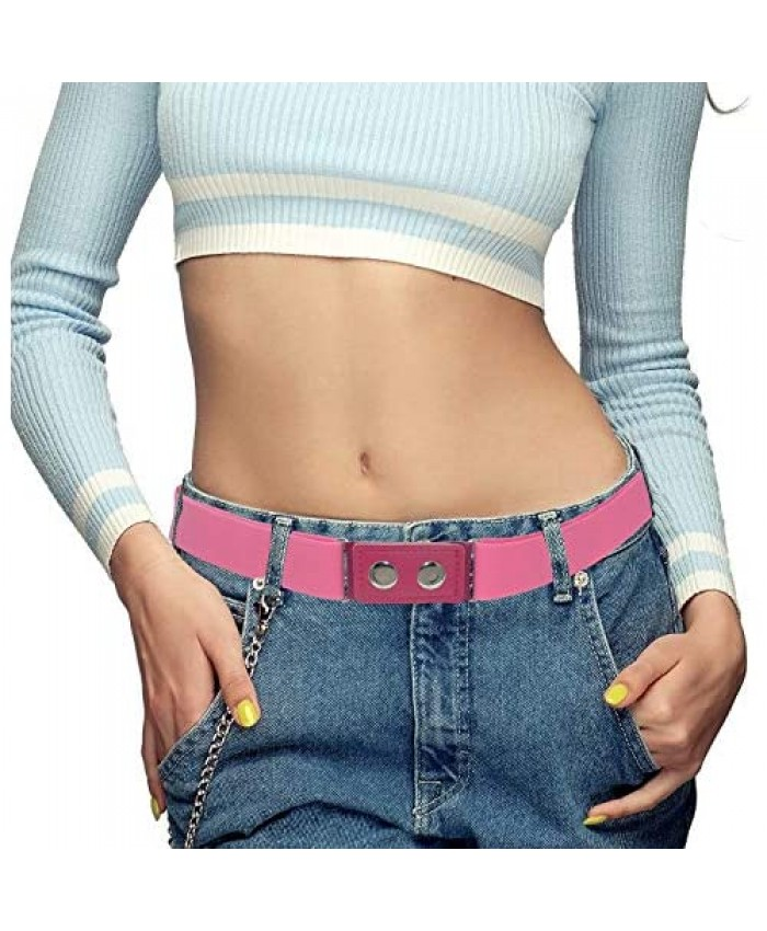 FILEAMO Womens Belts for Jeans Ladies Invisible Elastic Stretch Waist Belt