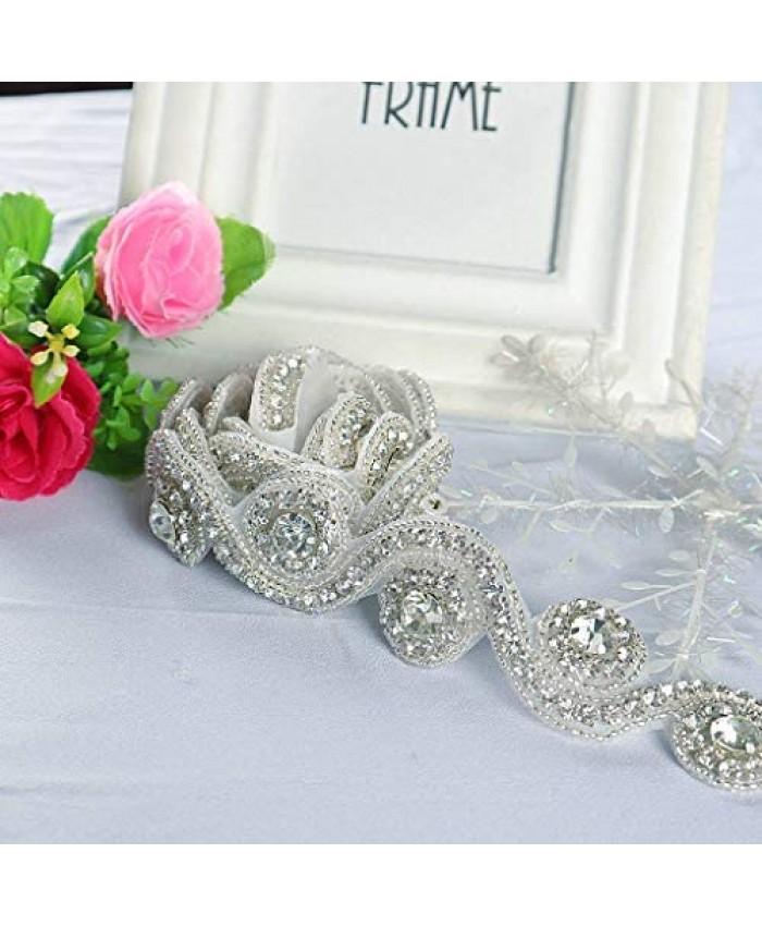Rhinestone Applique Belt Wedding Dress Sash Wedding Belt Bridal Belt Handmade Rhinestone Crystal Belt for Cloths