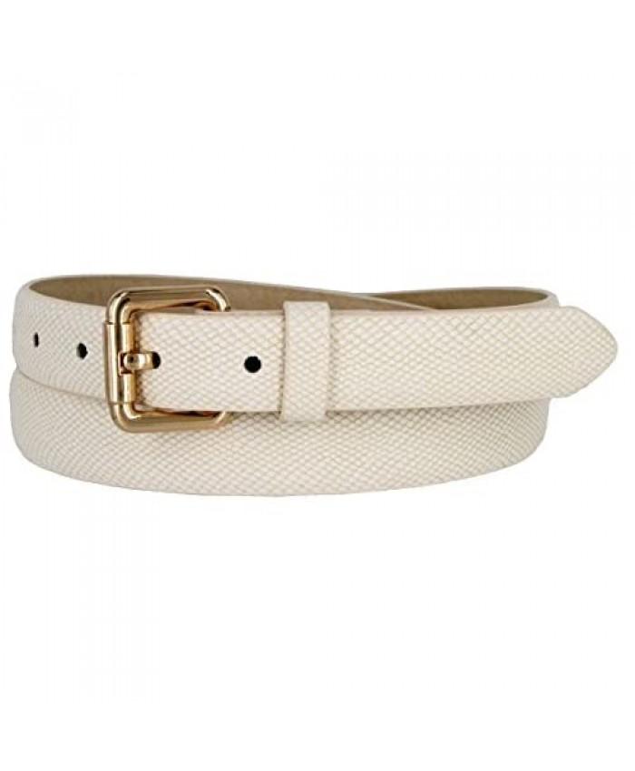 Skinny Women's Snakeskin Embossed Leather Casual Dress Fashion Belt 1 7085