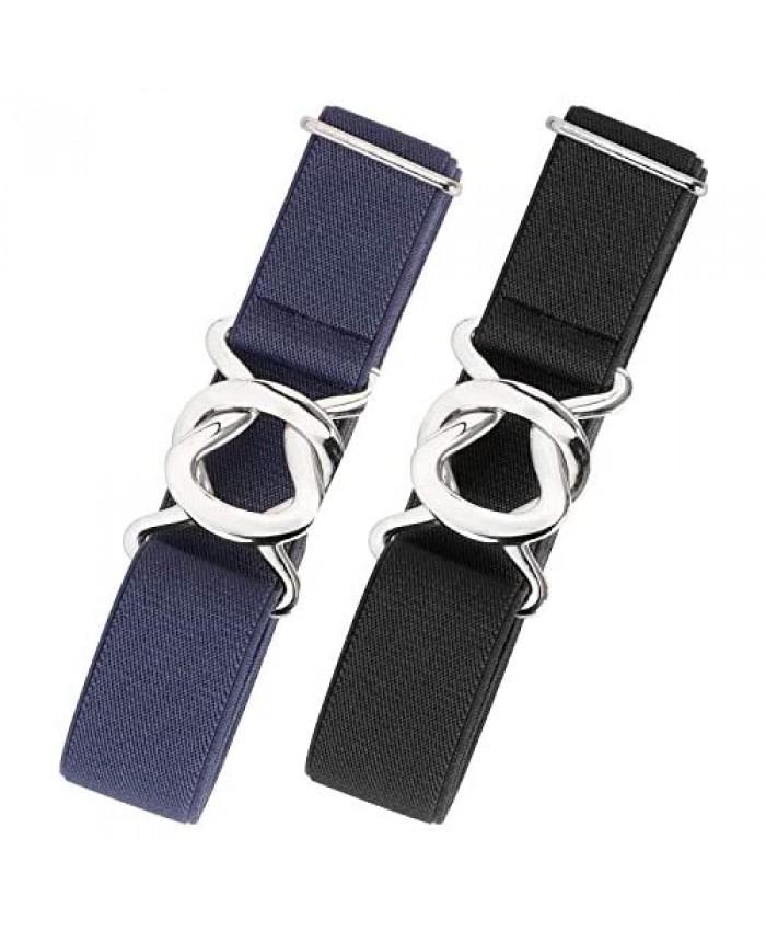 Womens Invisible Belt Comfortable Elastic Adjustable No Show Web Belt Metal Buckle Belt for Men by JASGOOD