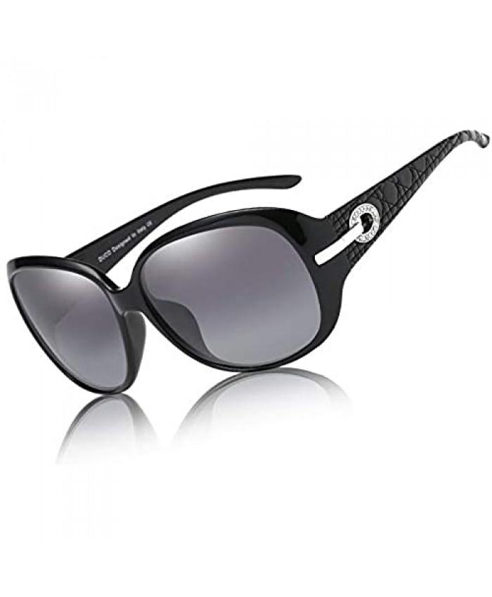 Duco Women's Shades Classic Oversized Polarized Sunglasses 100% UV Protection 6214