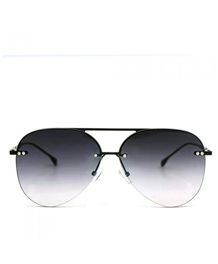 ProudDemon Rimless Women Men Aviator Sunglasses Classic ladies Metal Sun Glasses Unisex Gradient Lens Shades Fashion