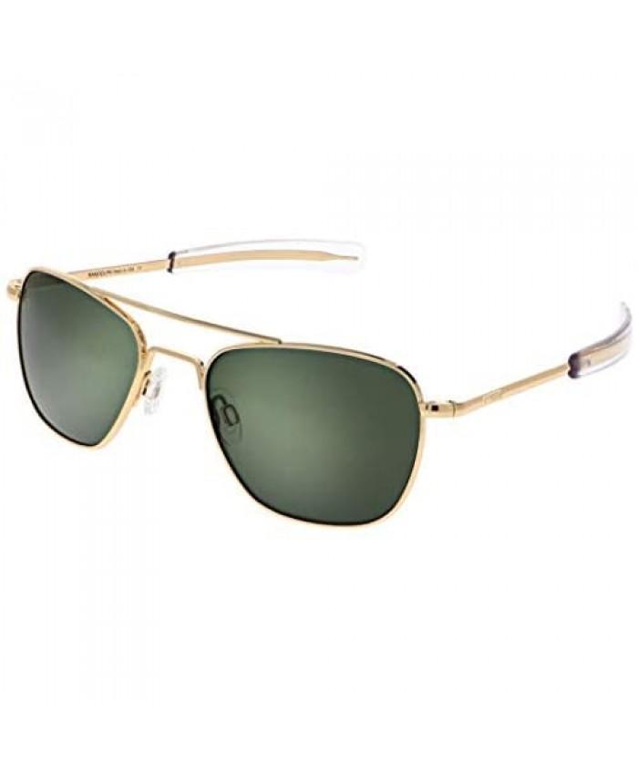 Randolph USA | Gold Classic Aviator Sunglasses for Men or Women 100% UV