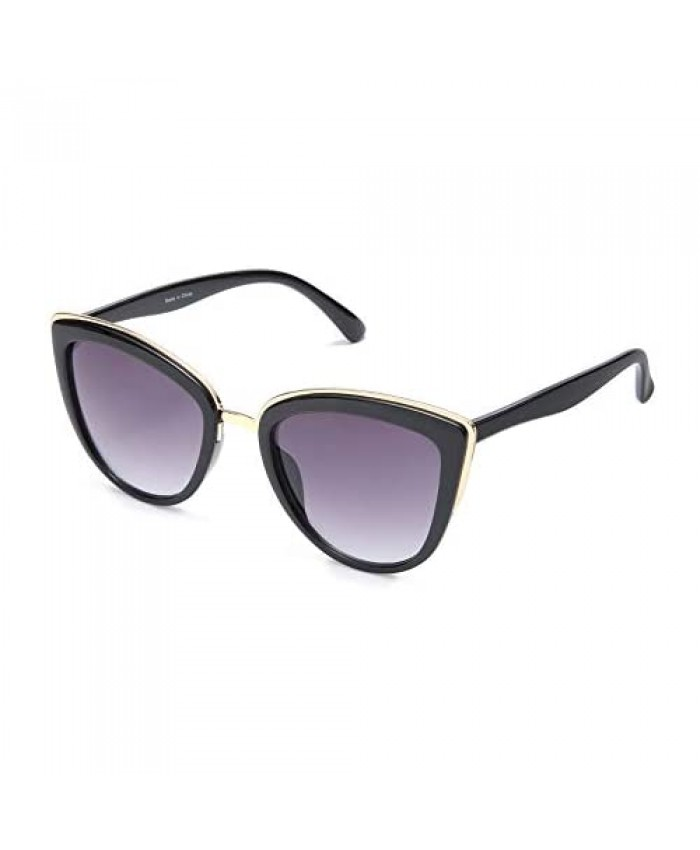 SKYWAY Retro Vintage Cat Eye Sunglasses for Women PC Metal Frame Classic Style UV Protection