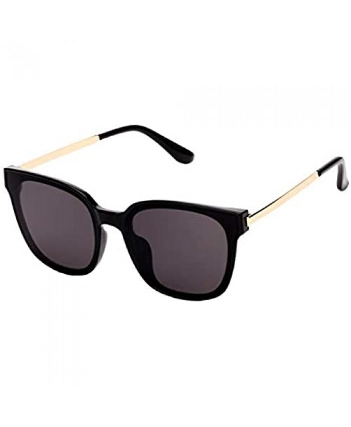 Square Sunglasses Womens Mens Oversized Mirrored lens U886