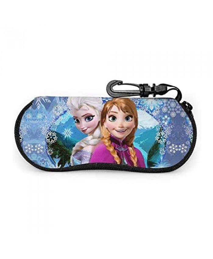 Portable Sunglasses Soft Case Ultra Light Neoprene Zipper Eyeglass Case With Carabiner