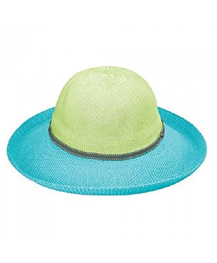 Wallaroo Hat Company Women's Victoria Two-Toned Sun Hat – UPF 50+ Packable Adjustable Modern Style Designed in Australia