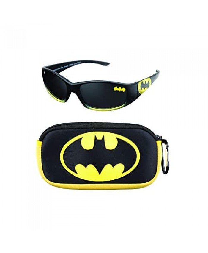Batman Kids Sunglasses with Matching Glasses Carrying Case and UV Protection