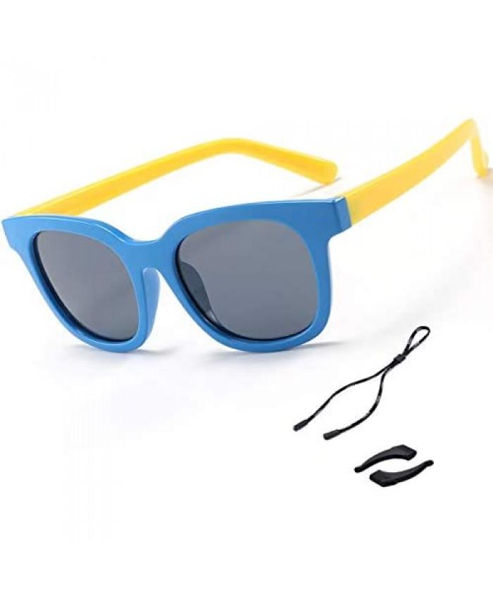 Boys Sunglasses Polarized UV Protection Sport Outdoor Baseball Party Favors Flexible Sunglasses for Kids Girls Children