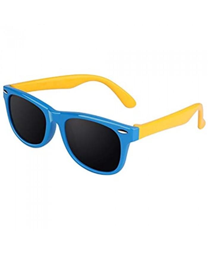 CGID Soft Rubber Kids Polarized Sunglasses for Children Age 3-10 K02