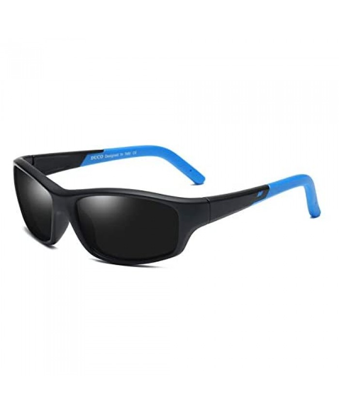 DUCO Kids Polarized Sunglasses for Boys and Girls Flexible Rubber Frame UV400 Protection