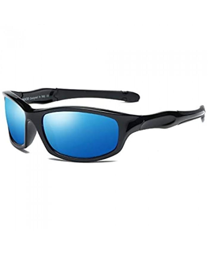 DUCO Kids Sunglasses Boys Sports Polarized Sunglasses Youth Sunglasses for Boys And Girls Age 3-10 K006