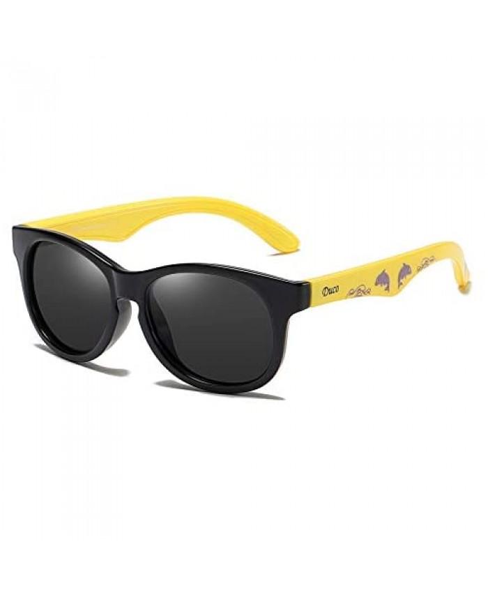 DUCO TPEE Kids Sport Polarized Sunglasses For Kids Boys Girls Rubber Flexible Frame Sunglasses UV Protection k018