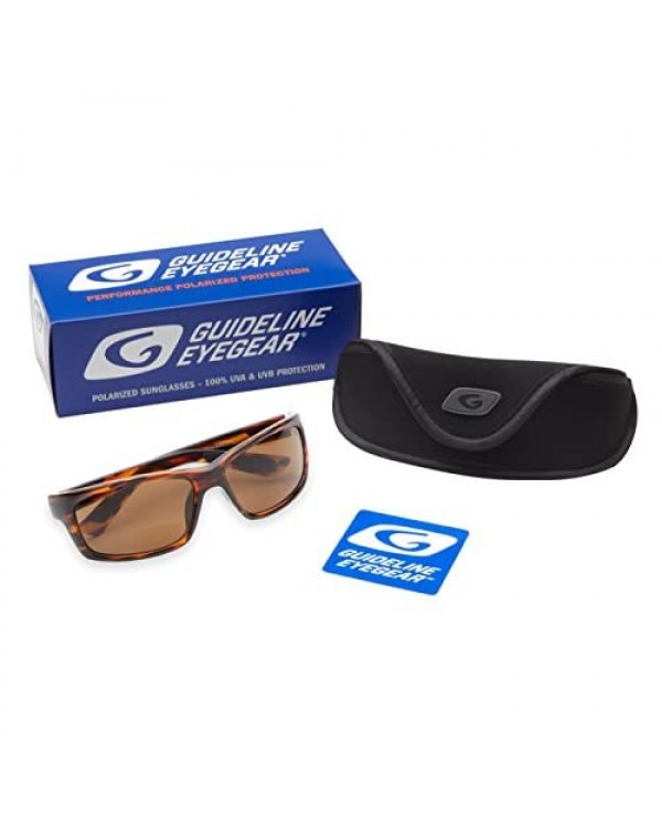 Guideline Eyegear Surface Polarized Bifocal Sunglasses with Freestone Brown Lens