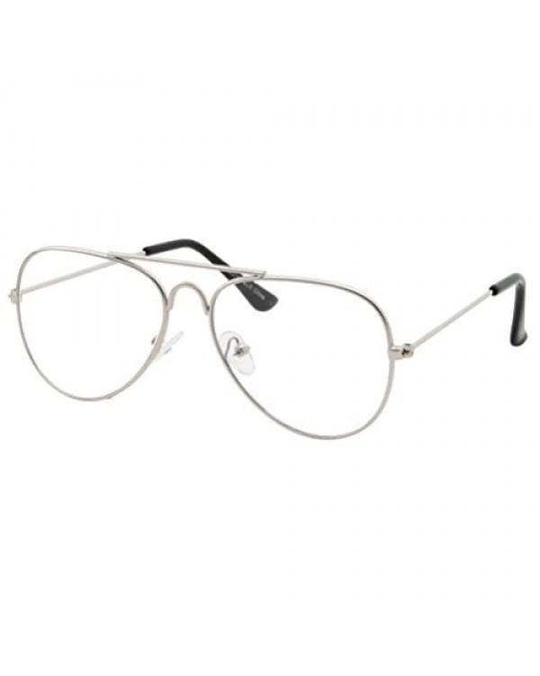 Kids Fake Aviator Eye Glasses Clear Lens Children's Non Prescription (Age 3-10)
