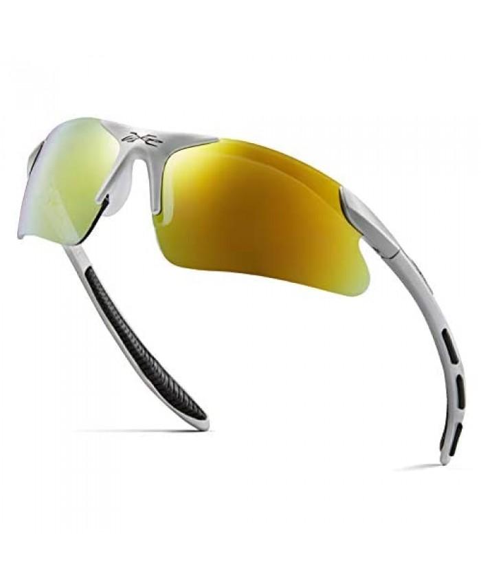 Kids Sports Sunglasses for Boys Girls Children Age 3-10 Baseball Cycling Softball UV400 Glasses