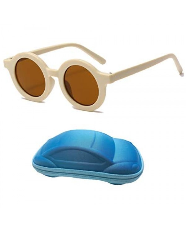 Kids Sunglasses UV400 Protection Cute Round Glasses for Toddler Boys Girls Age 2-7