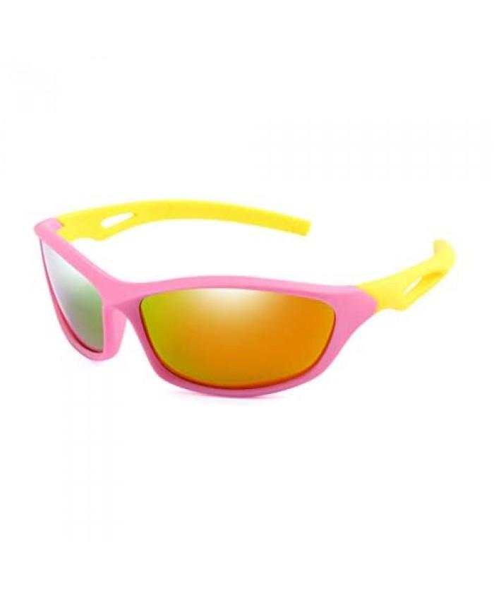 Long Keeper TR90 Unbreakable Polarized Sunglasses for Boys Age 3-10 Kids Sport Glasses