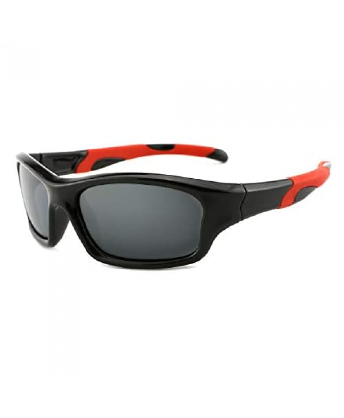 modesoda Kids Sports Polarized Sunglasses UV400 Protection Light Flexible for Age 3-10