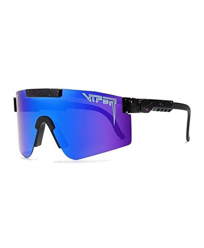 Navy Blue SunglassesOutdoor Cycling Glasses for Women and Men Tr90 Frame UV400 Polarized Sunglasses for Sports Fishing Golf Baseball Running