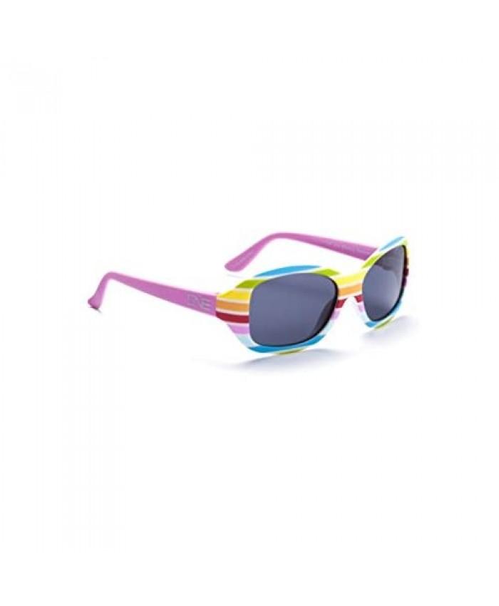 Optic Nerve SkipIt Youth Kids Sunglasses - Rainbow Frame Polarized Smoke Lens
