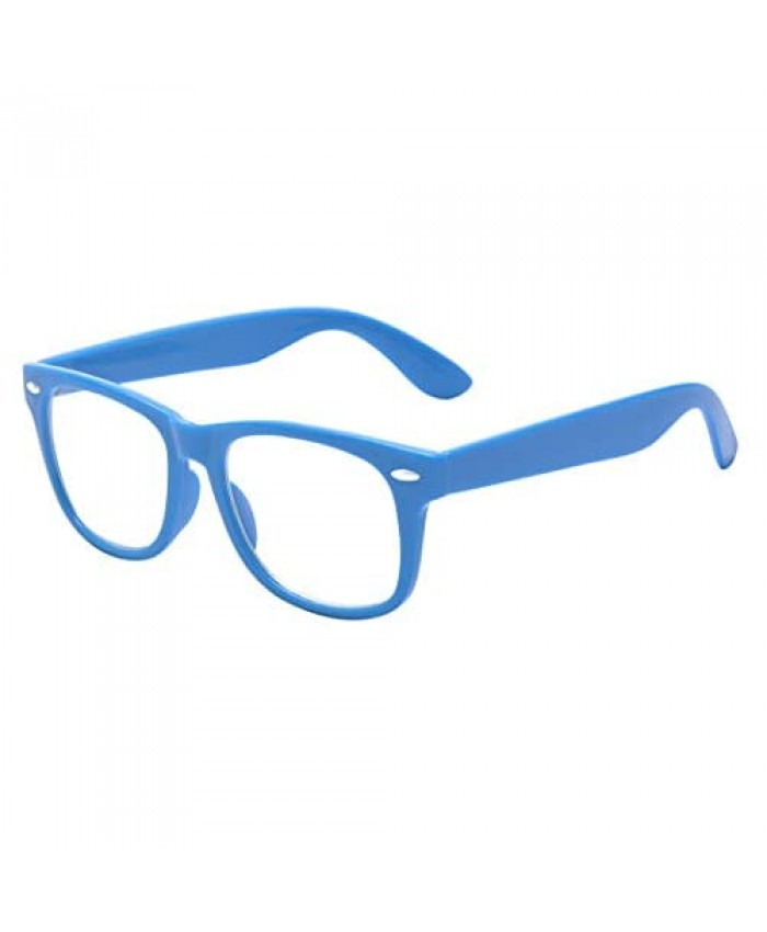 Outray Kids Clear Glasses Geek Fake Nerd Eyewear Cute Square Eyeglasses for Boys Girls Age 3 to 10