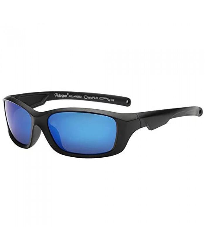 Polarspex Flexible Kids Toddler Boys Sports Wrap Polarized Sunglasses - BPA Free