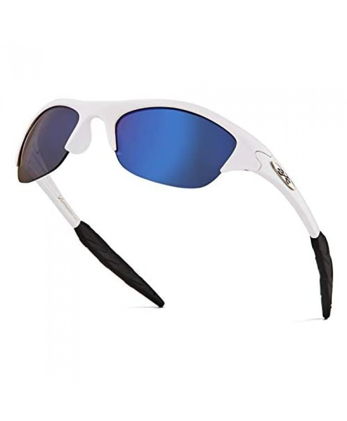 X Loop Kids Sunglasses - Sporty Half Frame Children Toddler Sunglasses for Boys and Girls Age 2-6