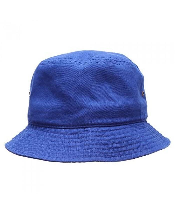 MIRMARU Summer 100% Cotton Stone Washed Packable Outdoor Activities Fishing Bucket Hat.