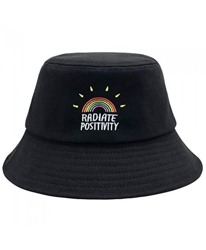 Rainbow Bucket Hat Summer Travel Bucket Beach Sun Hat Unisex Visor Outdoor Cap