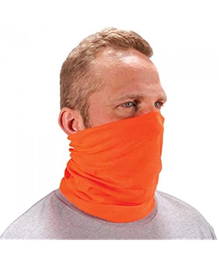 Ergodyne Chill Its 6485 Neck Gaiter Multiple Ways to Wear Headband or Face Mask Sweat-Wicking Orange Hi-Vis Orange