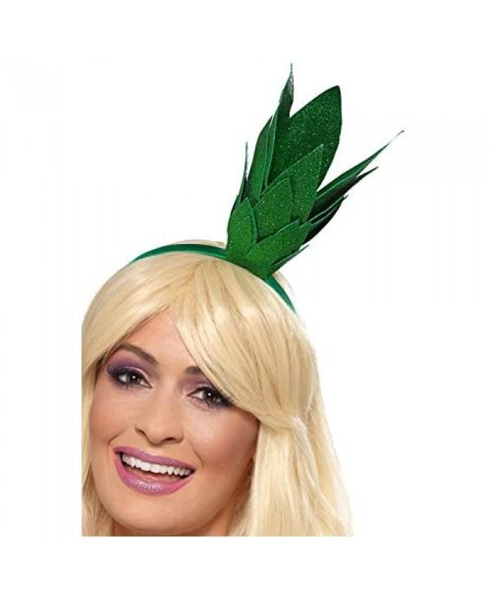 Smiffys Pineapple Stalk Glitter Headband Green