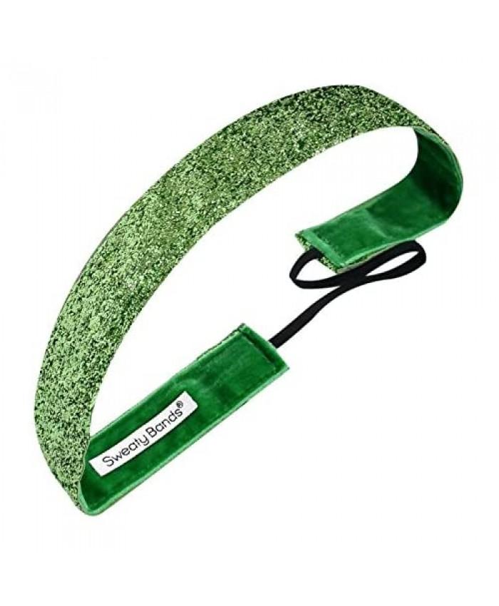 Sweaty Bands Viva Diva Headband Lime Green Sparkle 1-Inch