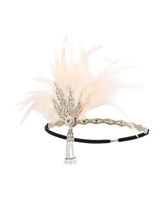 Vintage Flapper Headband Great Gatsby Leaf Tiara 1920's Fancy Hair Accessory Hairstyle Wedding Hair