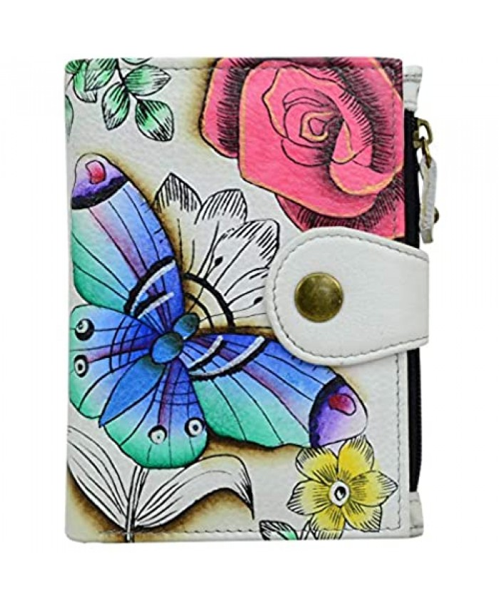 Anna by Anuschka Bi-Fold Wallet - Genuine Leather - Floral Paradise