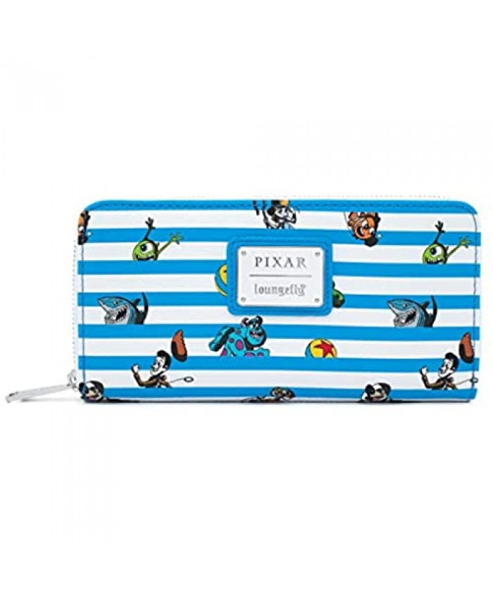 Funko Loungefly Pixar Collection: Pixar Characters Faux Leather Zip Around Wallet  Exclusive